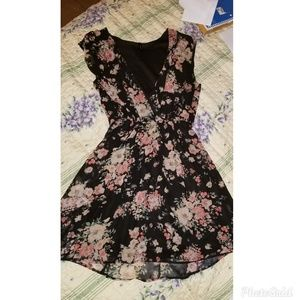 Floral Sheer Mini Dress